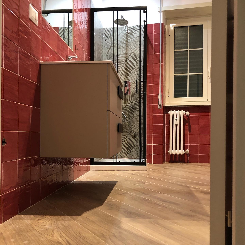 BEAVER ristrutturazioni - Restauro bagno rosso