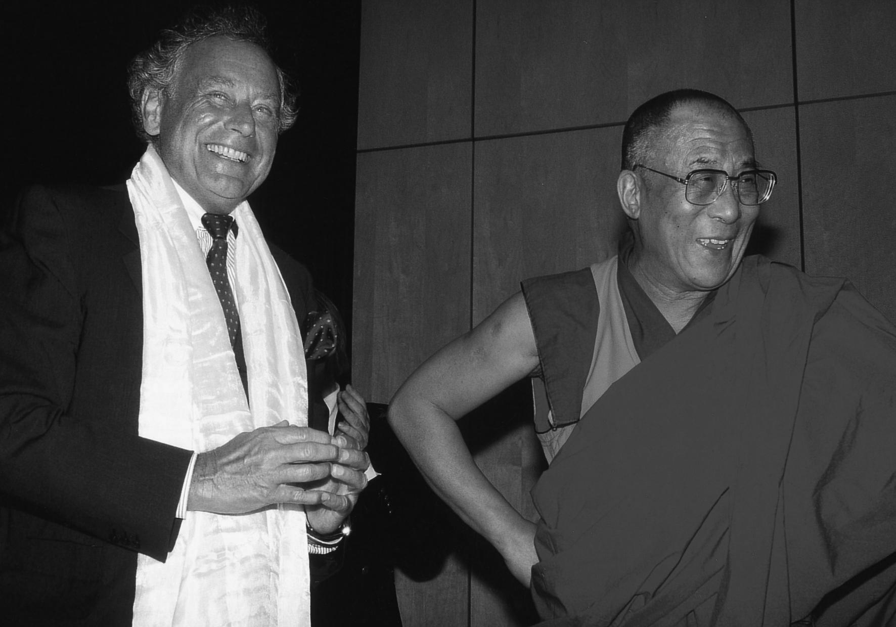 1999 - Reinhold Würth e il XIV Dalai Lama in occasione della visita di quest'ultimo a Künzelsau-Gaisbach