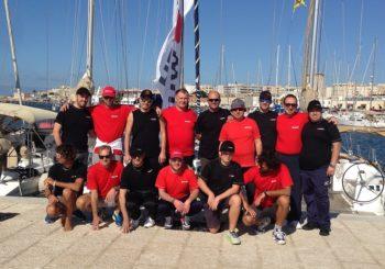 Würth Sailing Cup alle Isole Egadi. Il team di squadra anche in mare.