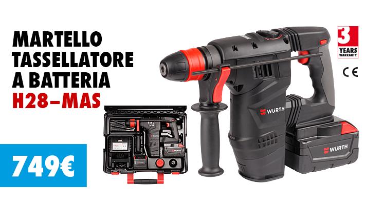 Tassellatore h28 mas in offerta lancio novit 2016 for Allestimento furgoni wurth