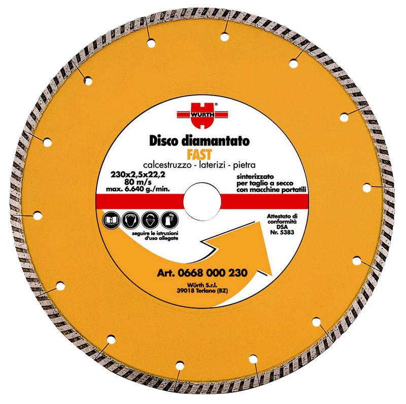 disco con corona scanalata