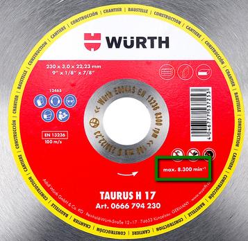 etichetta informativa disco diamantato
