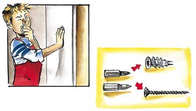 Fissaggio sulla lastra in cartongesso