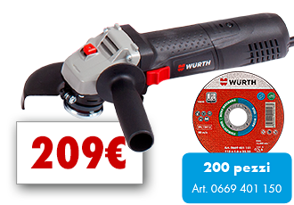 KIT SMERIGLIATRICE ANGOLARE EW7-115 BASIC + 200 MOLE 115x1,0mm Art.0988006030