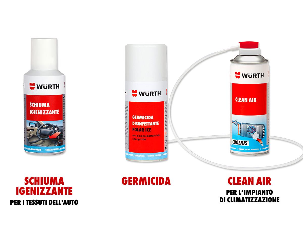 Il tris per la perfetta pulizia dell 39 auto w rth w rth lab for Allestimento furgoni wurth