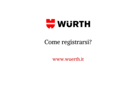 Come registrarsi all'online-shop Würth?