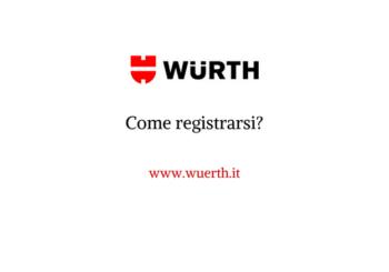 Come registrarsi all'online-shop Würth?