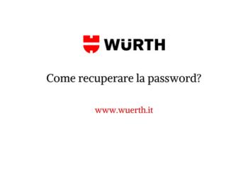 Come recuperare la password sull'online-shop Würth?