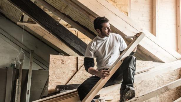 costruzione del tetto - carpentiere