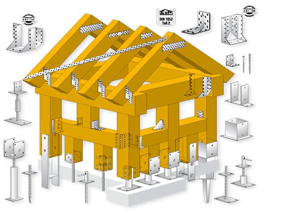 costruzione del tetto - struttura casa