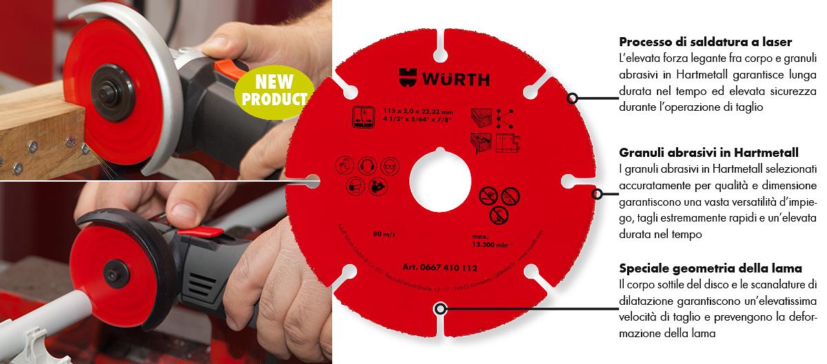 disco da taglio per legno