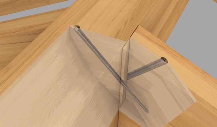 Viti strutturali Würth ASSY PLUS VG e la ETA 11/0190 per il collegamento di travi in legno