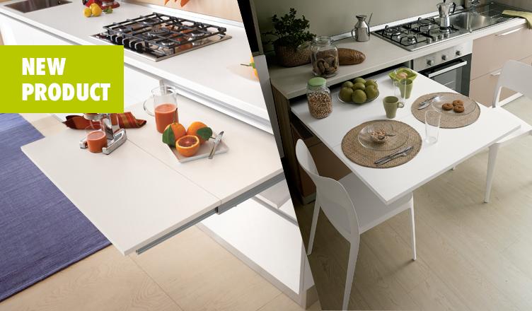 Estrai il tavolo da un cassetto! Grazie alle soluzioni Würth i tuoi clienti potranno dire addio ai problemi di spazio in casa