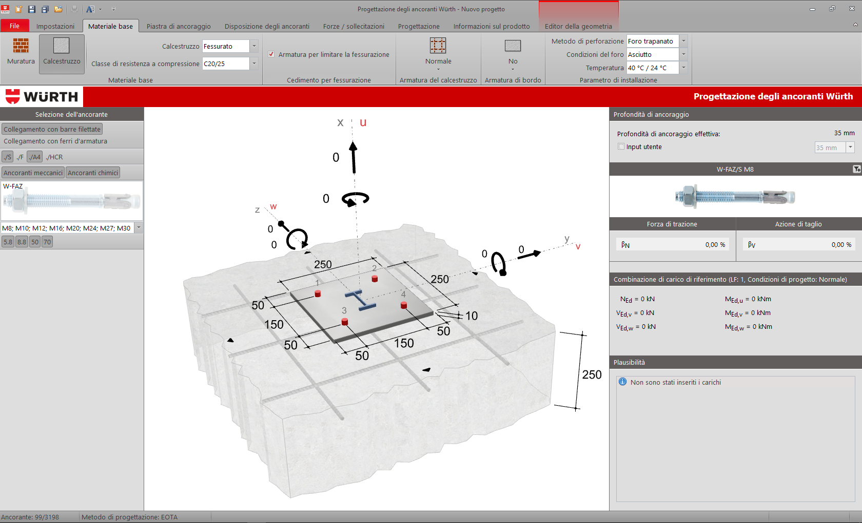 Software calcolo ancoraggi Würth