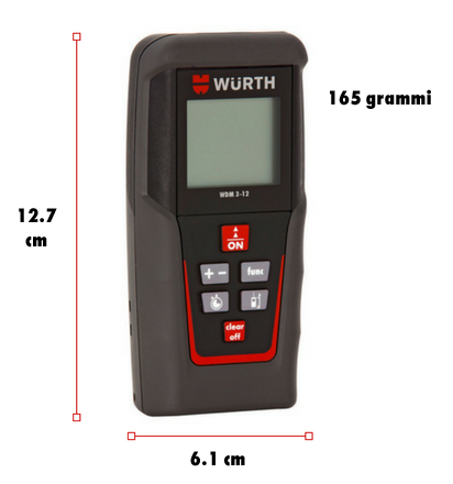 dimensioni Misuratore Laser