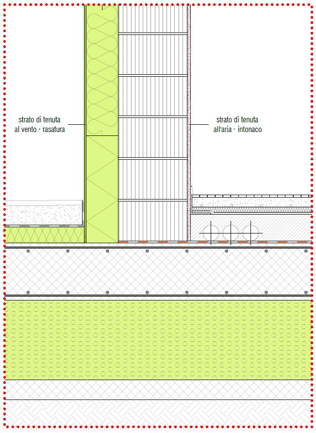Esempio di attacco a terra in edificio con struttura in latero-cemento