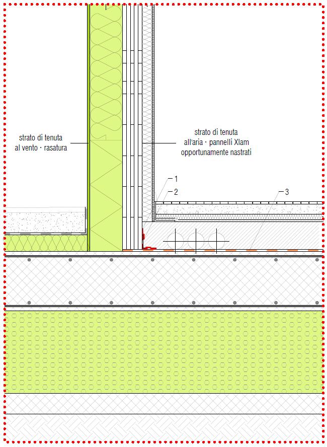 Fig. 3 - Esempio di attacco a terra in edificio con struttura in Xlam