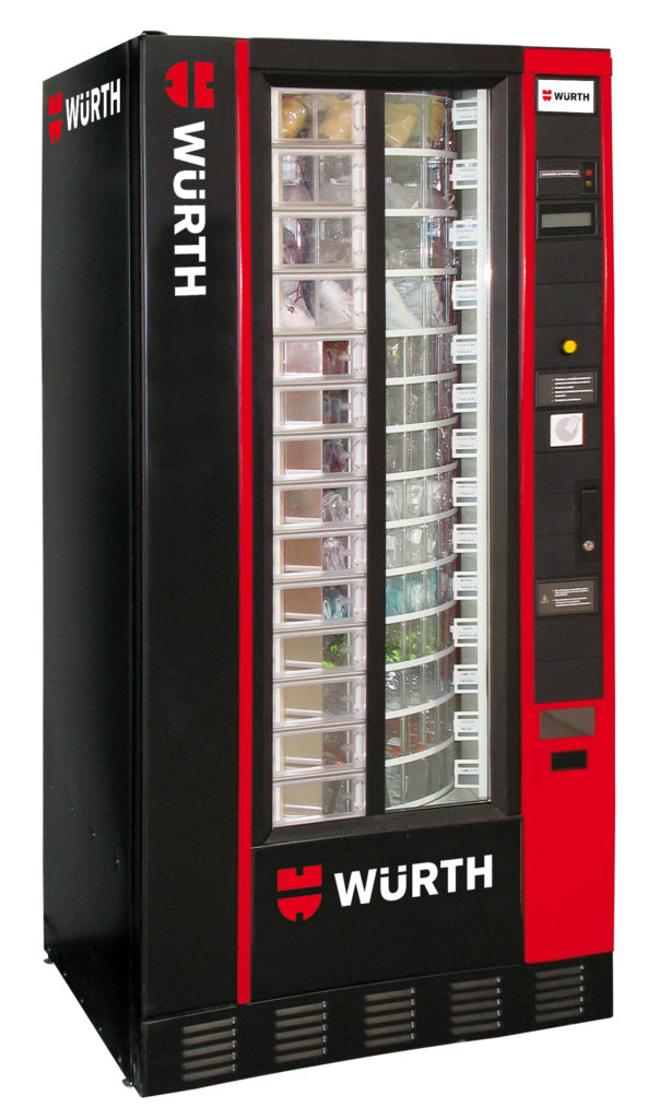 Distributori automatici di dpi w rth news for Allestimento furgoni wurth
