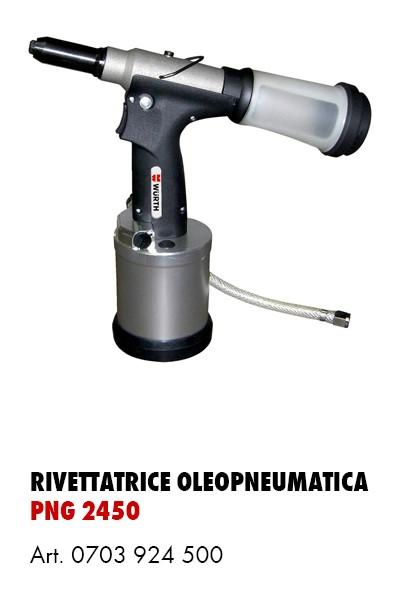 Rivettatrice oleopneumatica