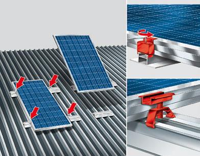 sistema di staffaggio zebra solar