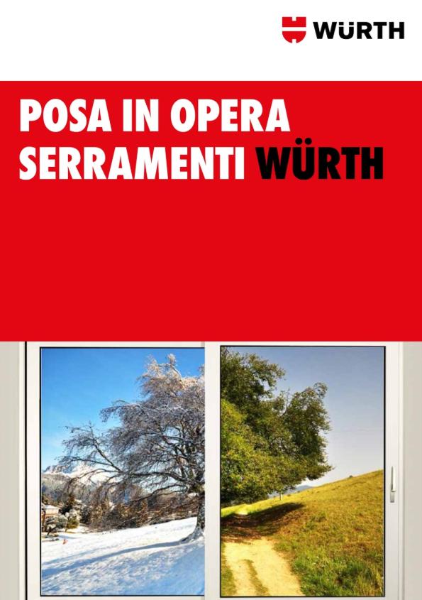 catalogo - posa dei serramenti Würth