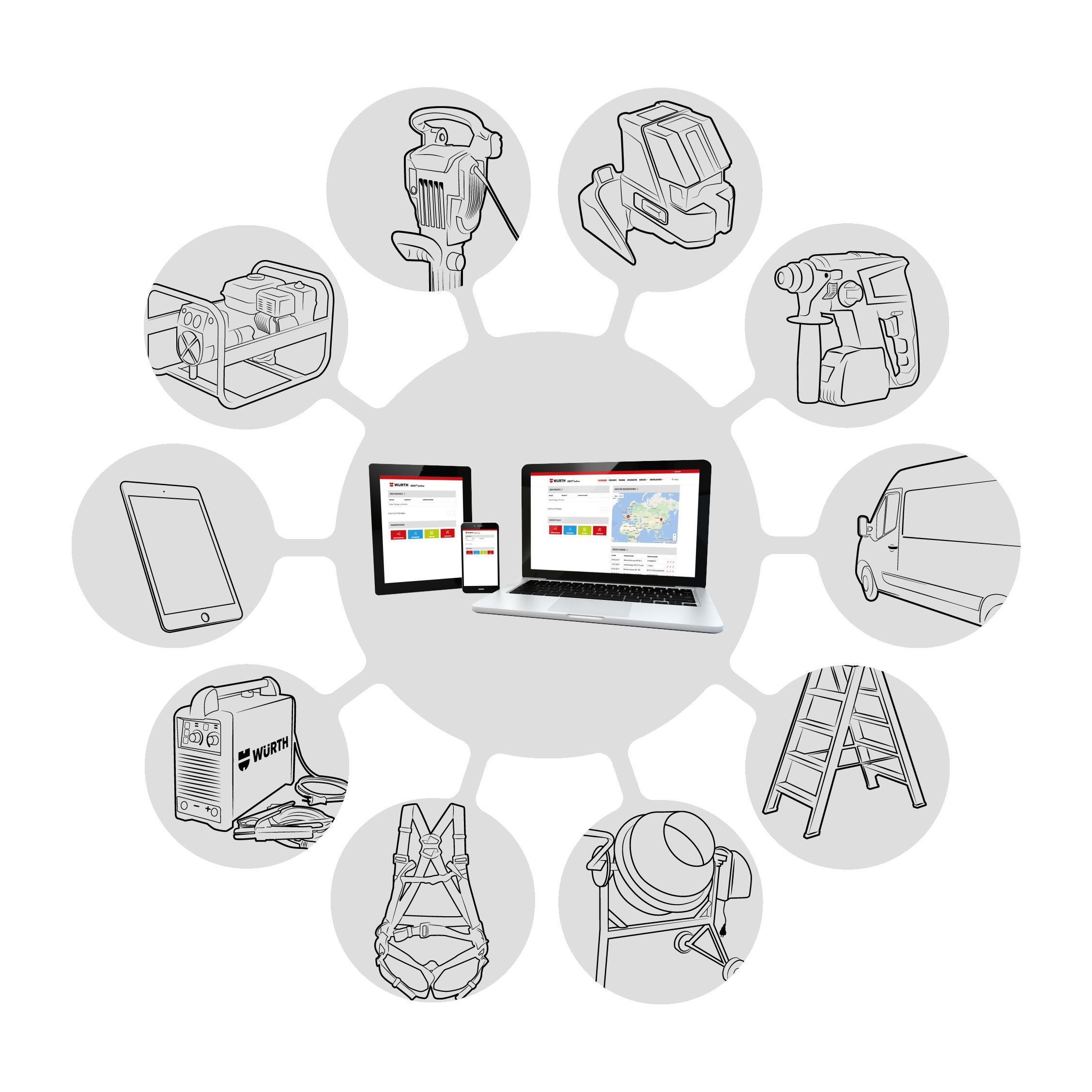 software di gestione degli utensili ORSY®ONLINE