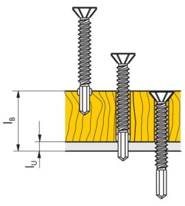 viti autoforanti in acciaio - come scegliere la lunghezza giusta