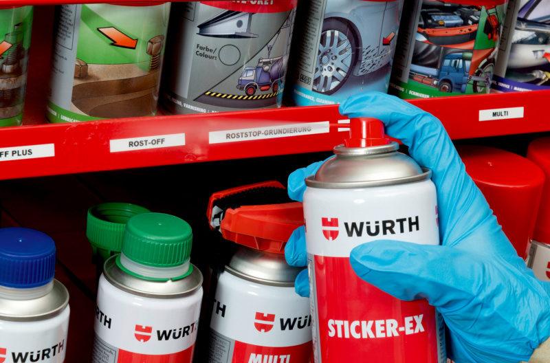 rimuovi etichette adesive