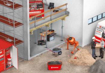 Logistica di cantiere: come lavorare con un elevato grado di efficienza grazie all'organizzazione intelligente Würth