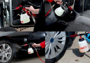 Un solo prodotto per la pulizia dell'auto, dall'interno all'esterno? Prova la Pistola per pulizia auto Würth