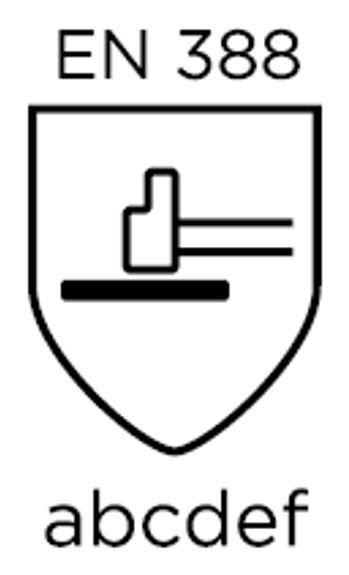 guanti antitaglio en 388