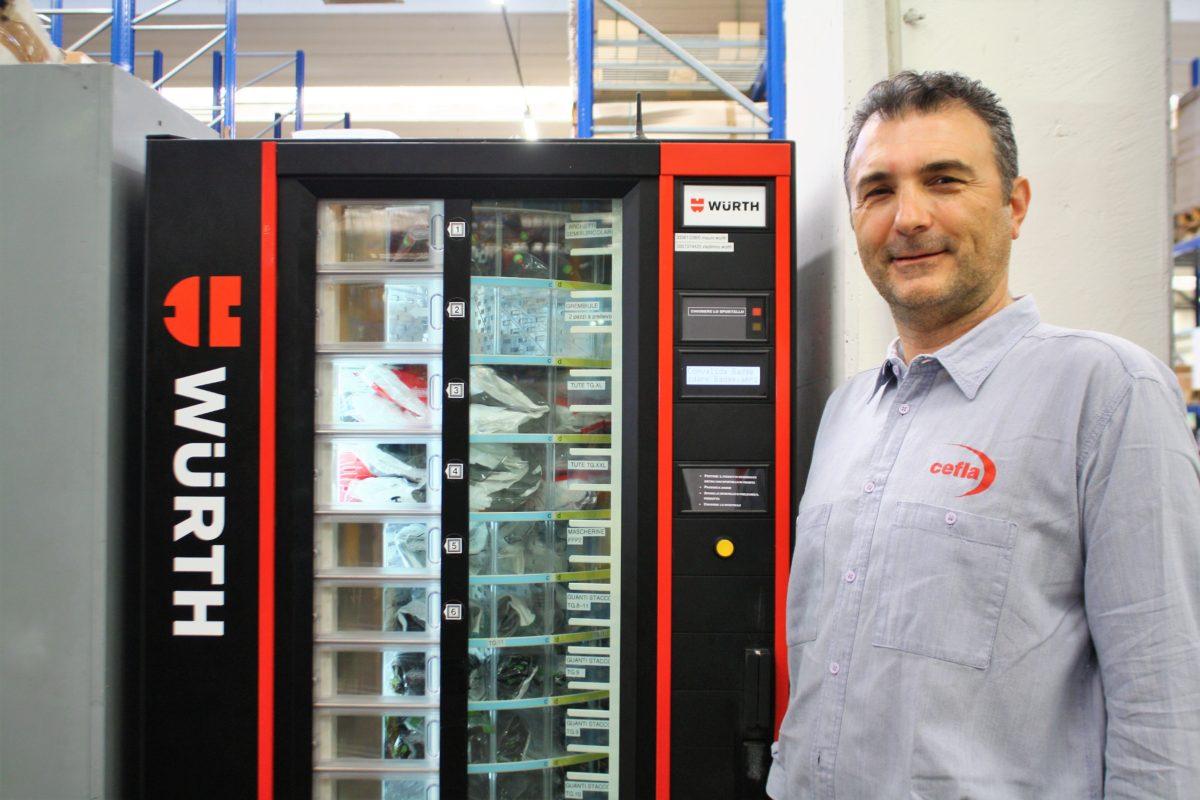 distributori automatici di DPI