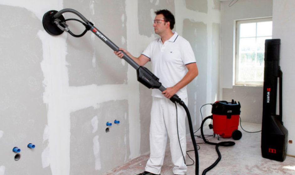 Levigatrice per pareti e soffitti WSS 225-E: niente più polveri, per un risultato imbattibile!