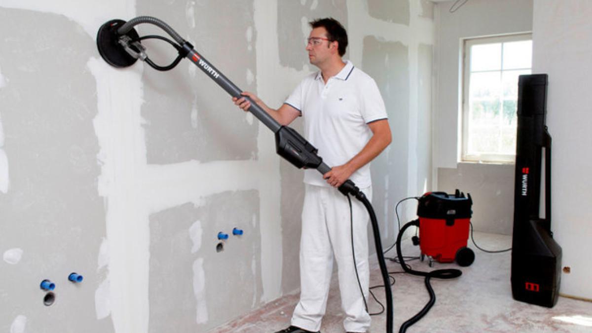 Come Scartavetrare Il Legno levigatrice per pareti con aspiratore | ergonomica, comoda e