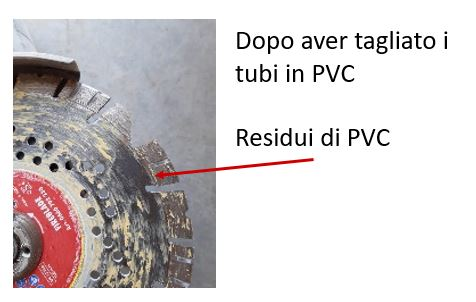 tubi in pvc - disco diamantato