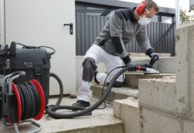 Grazie alla levigatrice per calcestruzzo con aspiratore avrai un lavoro pulito e preciso!
