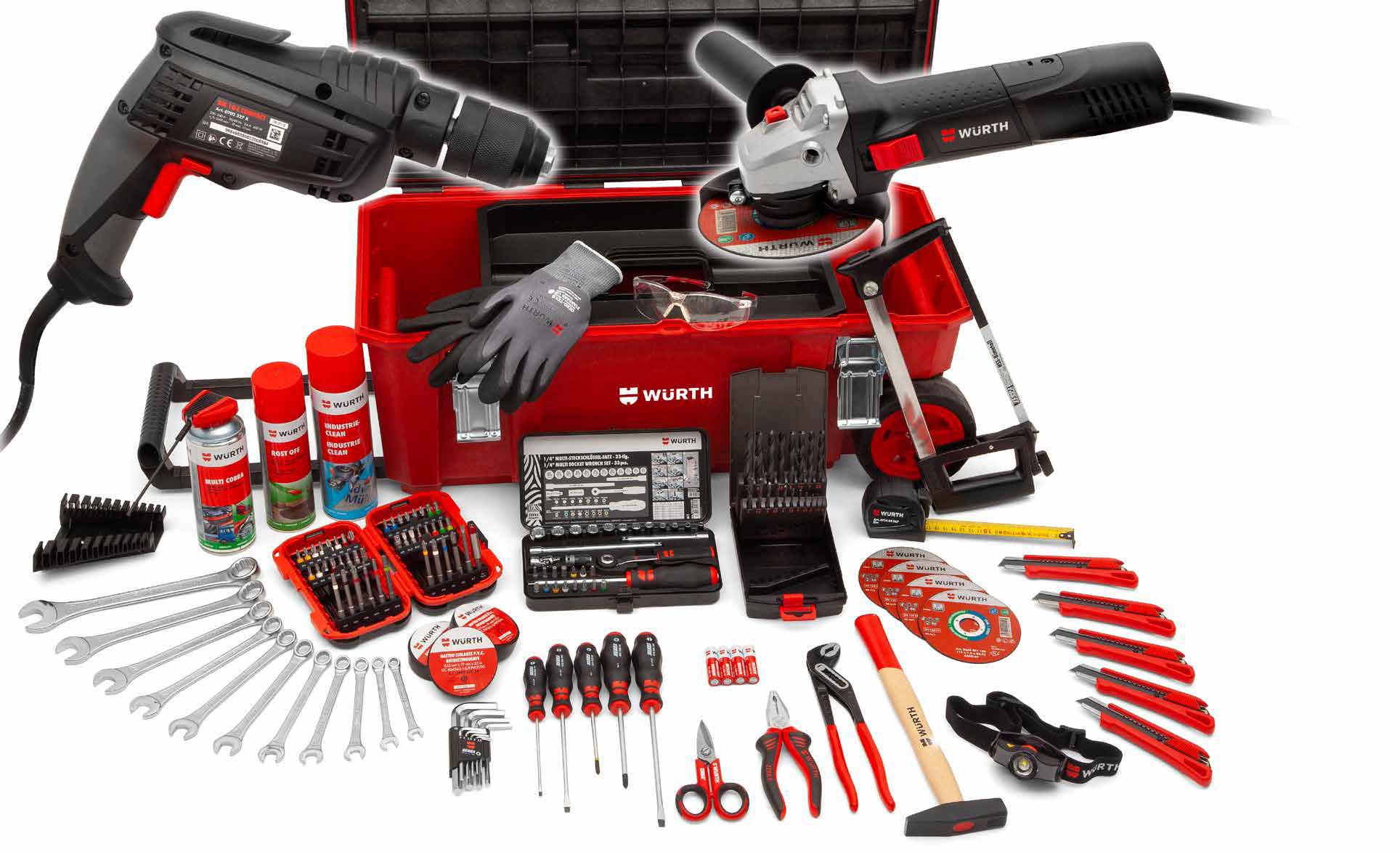 Assortimento utensili completo per artigiani