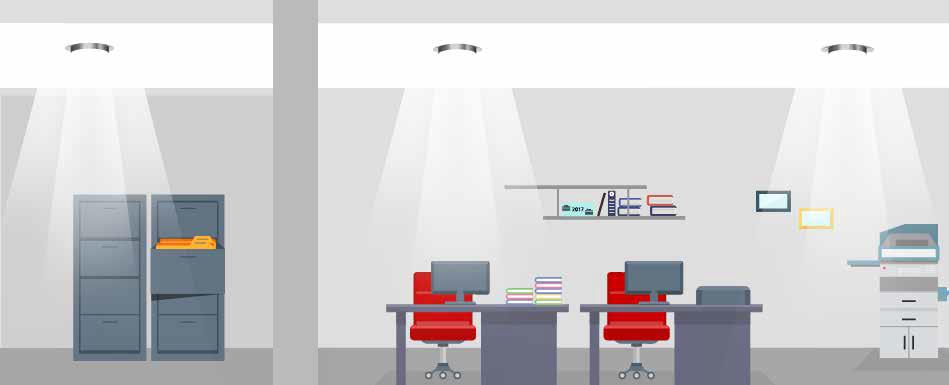 Calcolo del risparmio energetico con il relamping LED - illluminazione ufficio