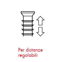 Pittogrammi ASSY 4 - Caratteristiche del prodotto - distanze regolabili