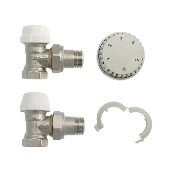 Kit attacco termosifone tubo acciaio 0878900138