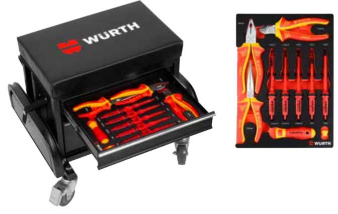 kit sgabello cassettiera con utensili isolati 16 pz - 0988011850