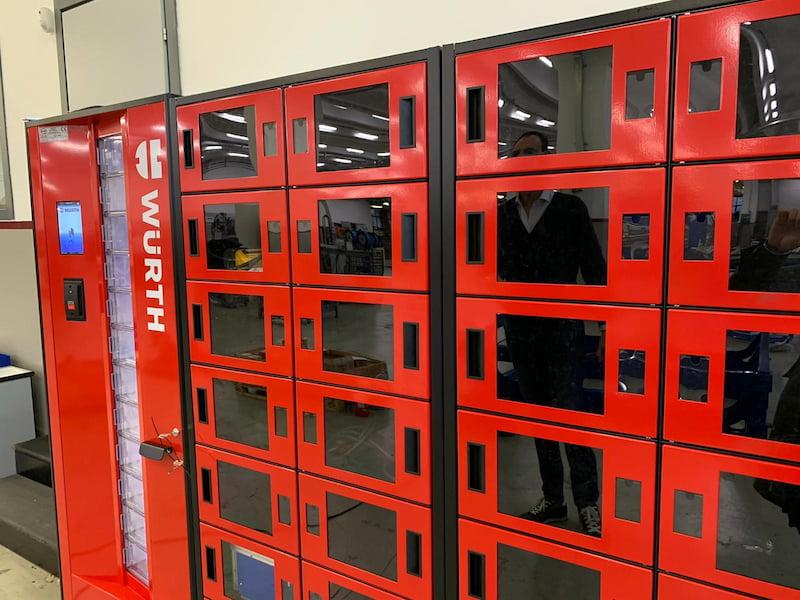 Distributori automatizzati Wuerth in Fisa Manufacturing